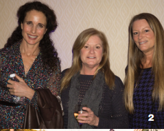 Andie MacDowell, Michelle McNeill and Cheri Rodgers at the Wild Dunes Author Event