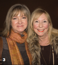 Germaine Aprill Tajak and Dianne Byers enjoy a cocktail at the Wild Dunes Author Event