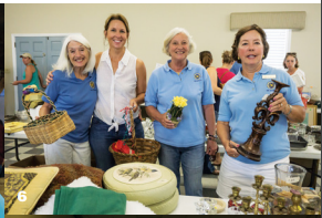 Barby Harrington, Deb Barr, Elizabeth Grantham and Pamela Marsh at the IOP Exchange Club Yard Sale