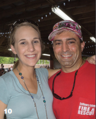 Bridgette and Jamiel Kadri at the SIFD Fish Fry