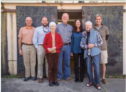 The Battery Gadsden Board: Carlsen Huey, Brandon Clark, Susan Middaugh, Mike Walsh, Adele Deas, program chair Rose-Marie Williams and Hal Coste.