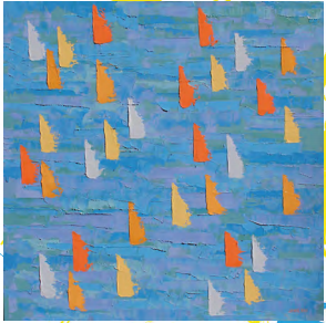 Janie Ball Sailing The Swells, oil on canvas 24 x 24