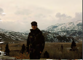 Arlene Southerland participates in Cold Weather Training in Bridgeport, California in 1991.