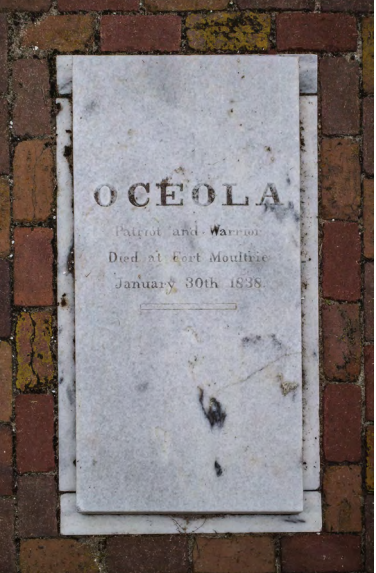 Osceola's grave outside Fort Moultrie on Sullivan's Island.