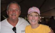 Jack Galloway and IOP Fire Chief Anne Graham at the Sullivan's Island FD Fish Fry