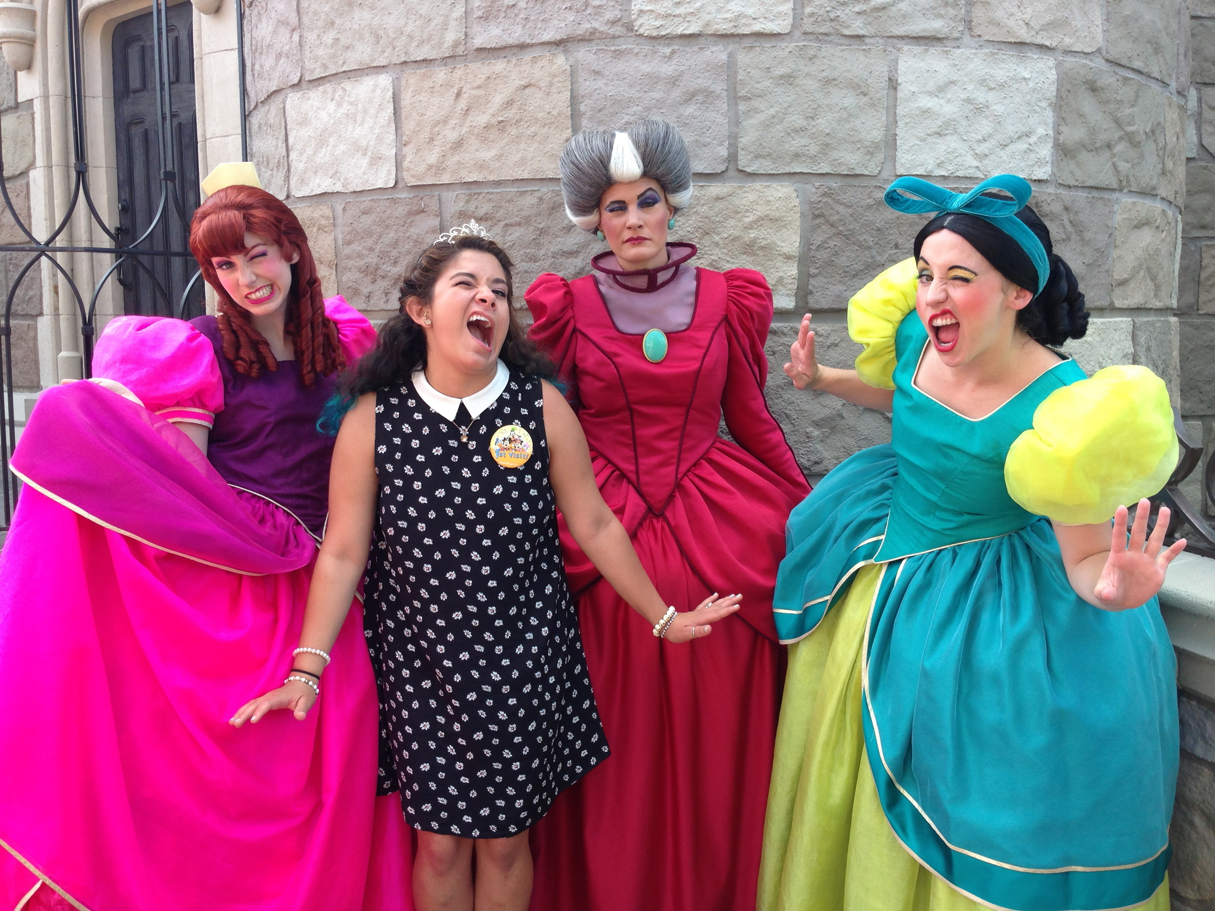 I told them I like them better than Cinderella. I also told them I was practicing winking and they gave me tips to catch all the boys eyes.