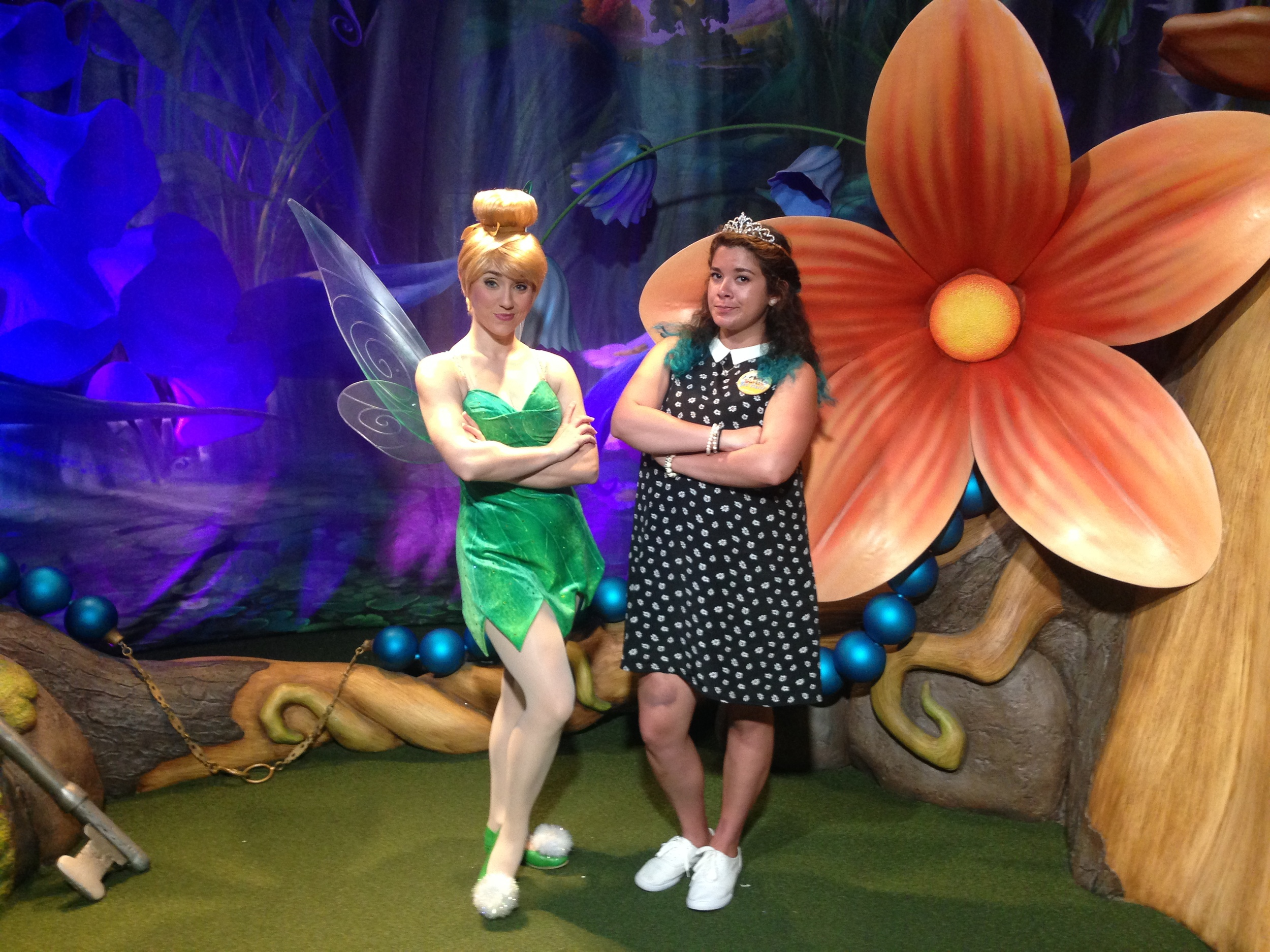 Sass with Tink (featuring the HUGE bruise just above my knee)