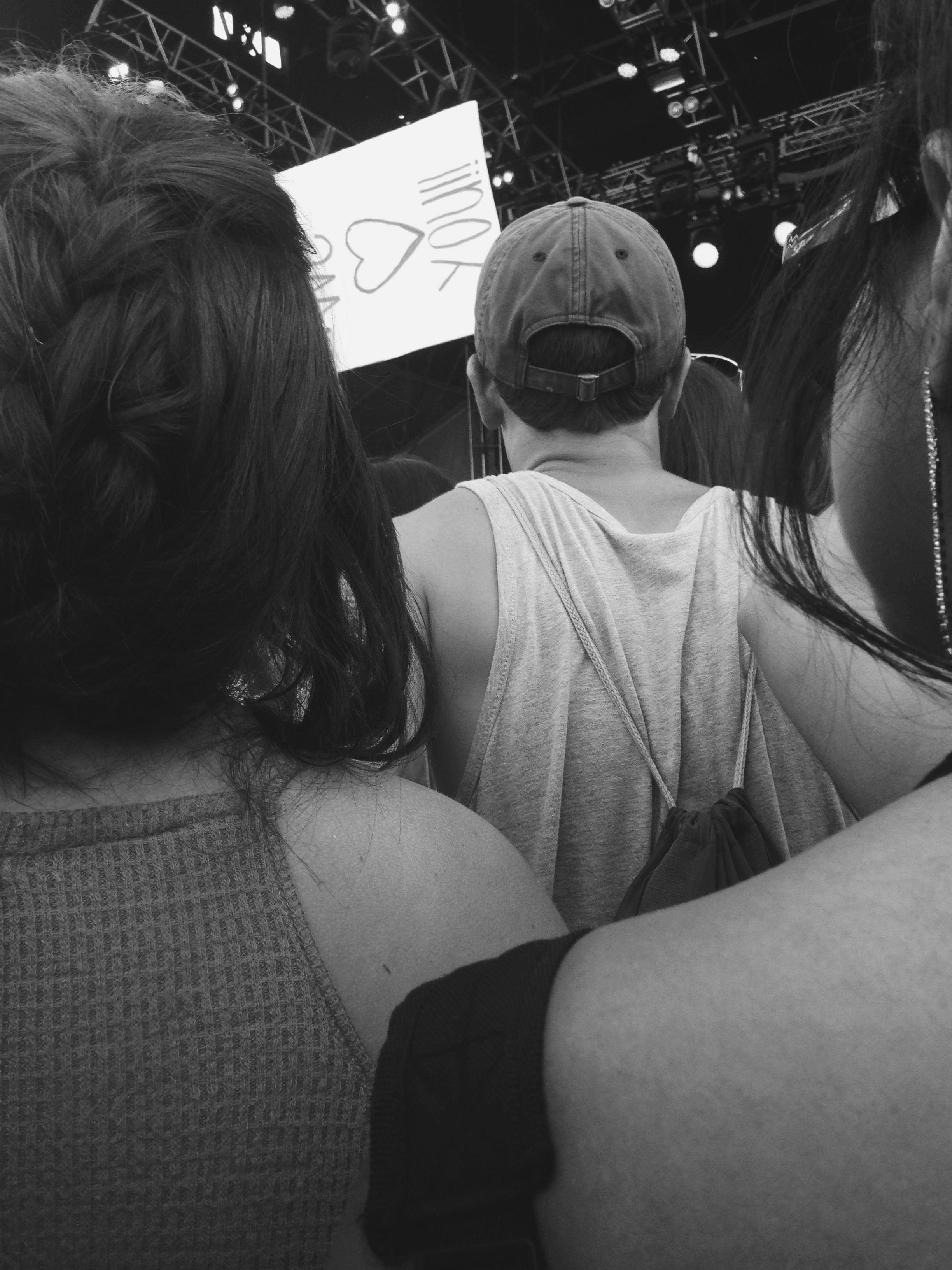 My view for Vance Joy.   I always swore I wasn't short. But it looks like I need to revisit that theory...