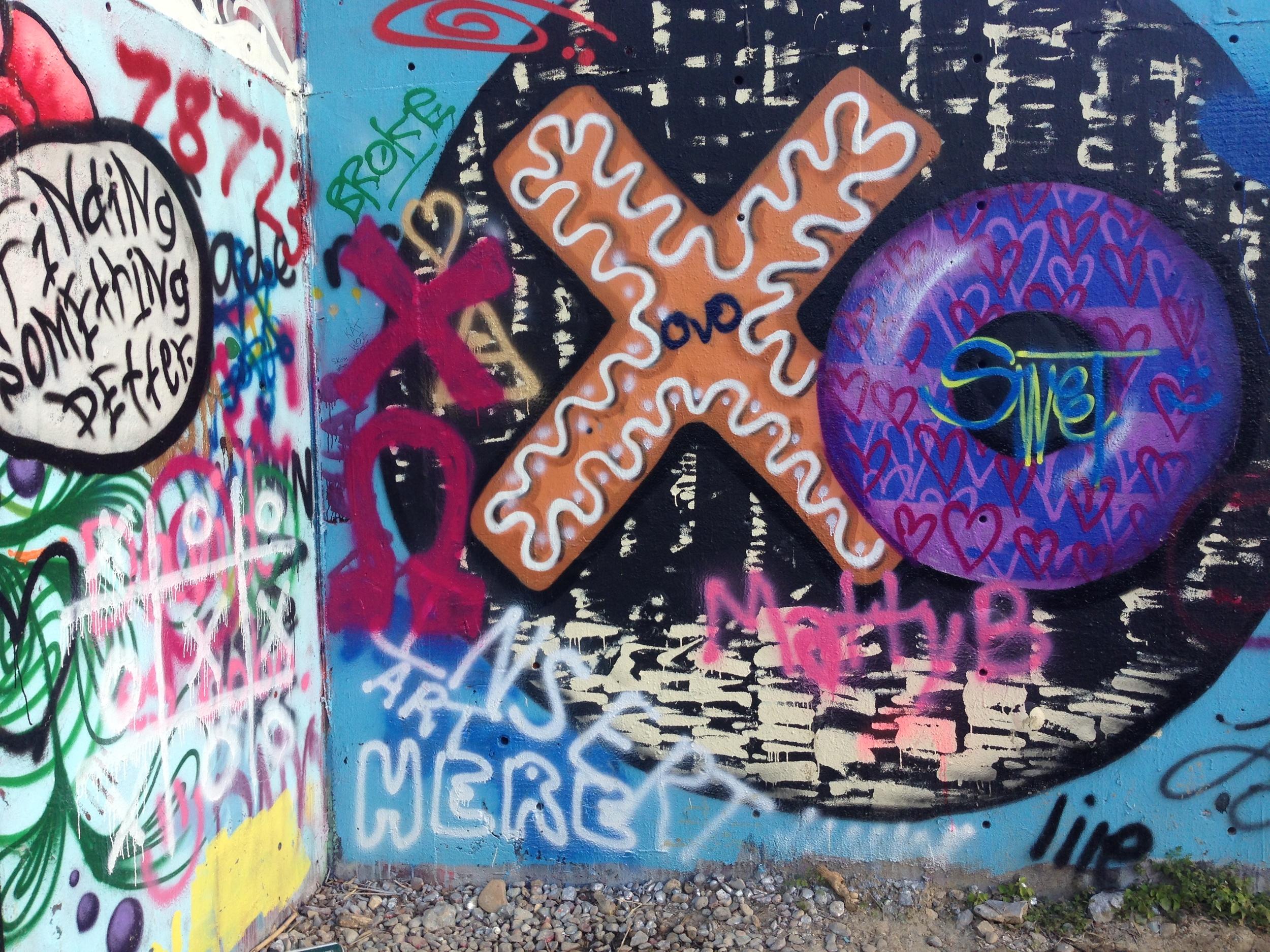 I love the idea of donuts so of course I love the donut graffiti