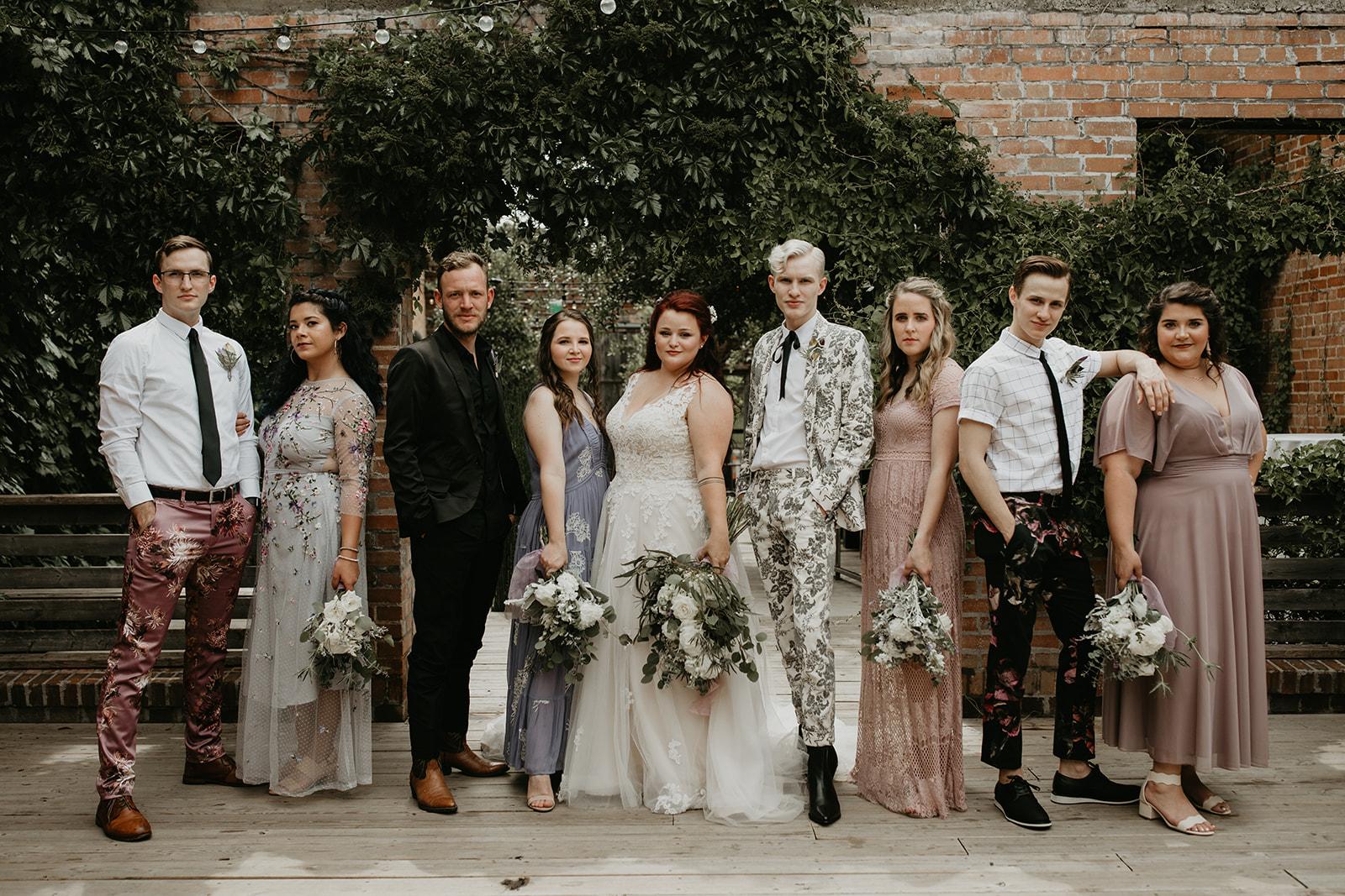 Fashion Forward Warehouse Wedding - Hannah & Jose