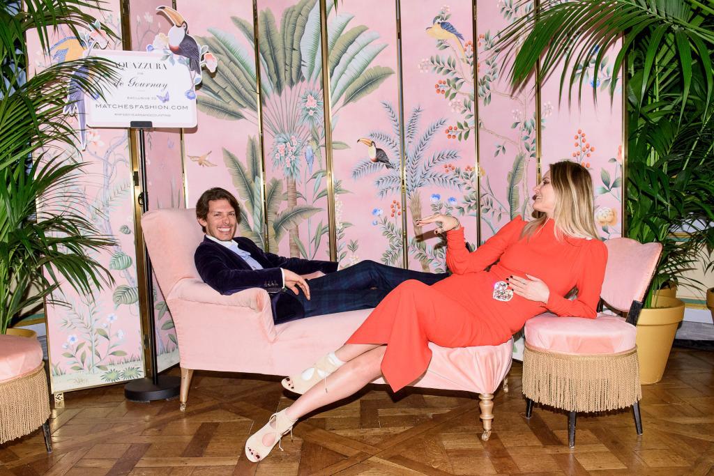 Aquazzura x De Gournay Collaboration | Fashion & Interior Design