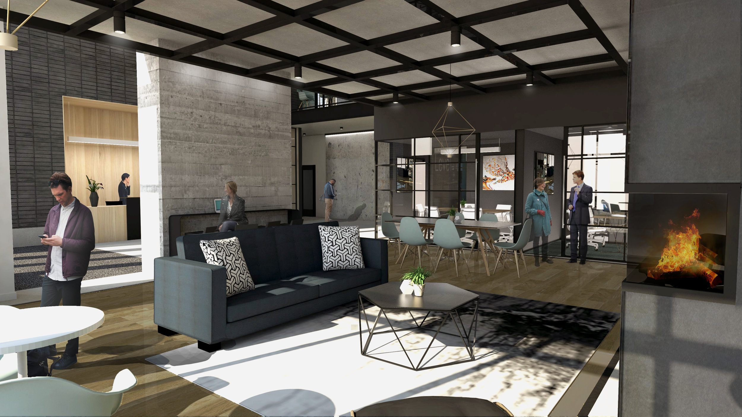 Work done for Ferguson Architecture - Main Lobby  (Design by me and others, rendering by others)