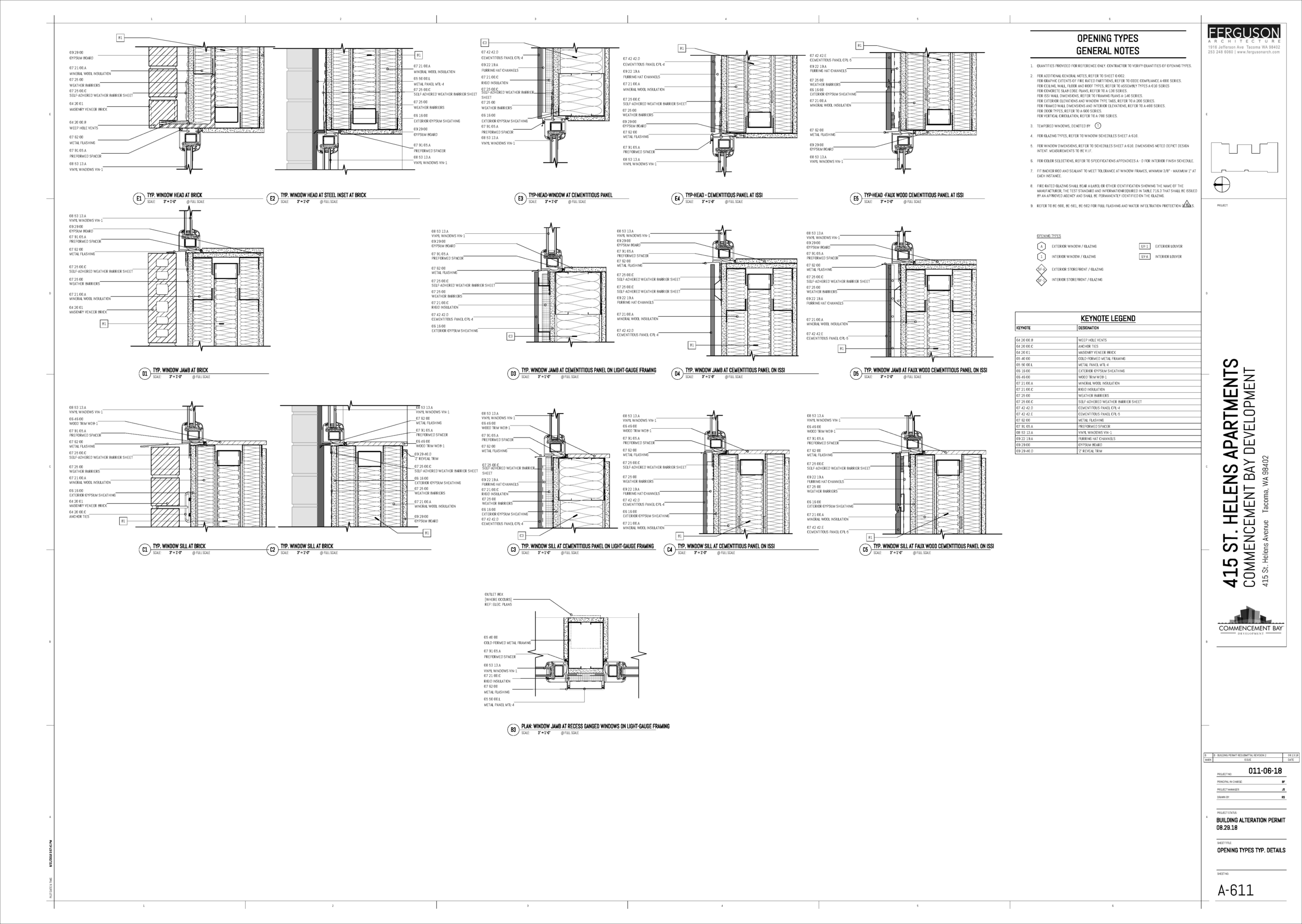 Work done for Ferguson Architecture - Led the details team