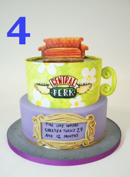 """We were so surprised by the social media reaction to this cake! We got SO many likes and comments from you guys. We liken this cakes' pull to the love that we all still share for those 6 friends living in a fantasy 90's version of NYC. """"So no one told you, this cake, was gonna be so huuuugee!!"""""""" CLAP CLAP CLAP CLAP!"""