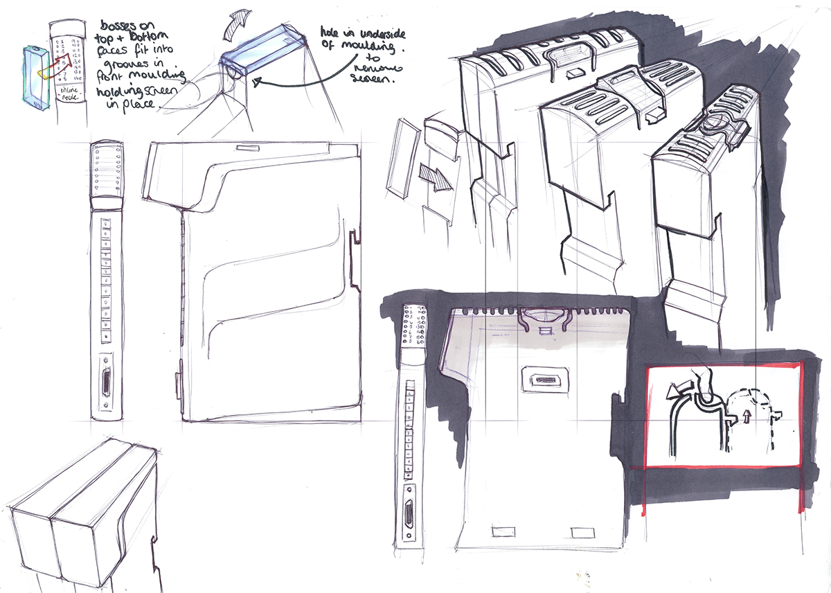 Ideation for a modular piece of technology.Undertaken on placement.