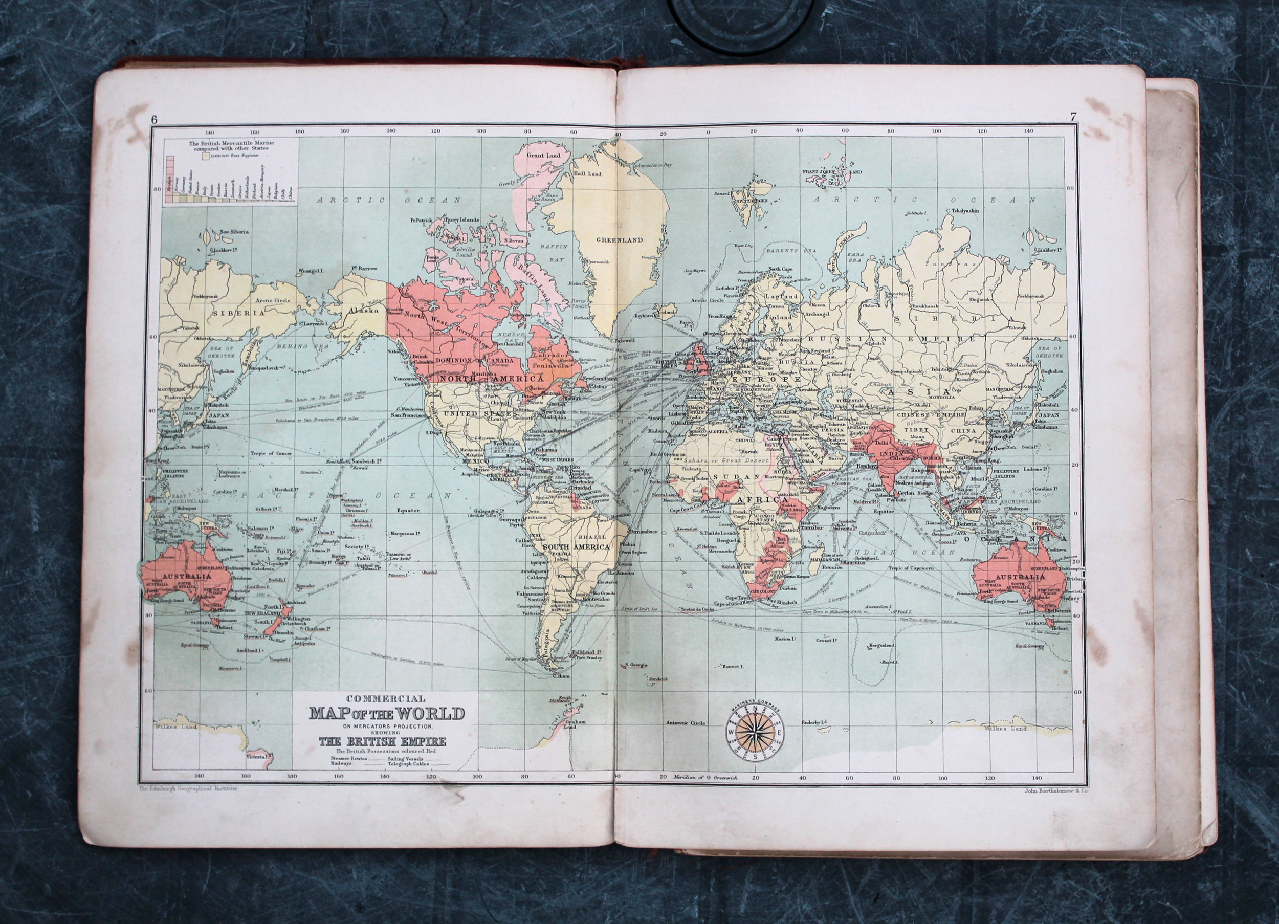An old book of maps that the style was based upon.