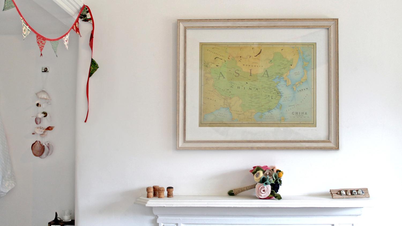 Printed map in situ.