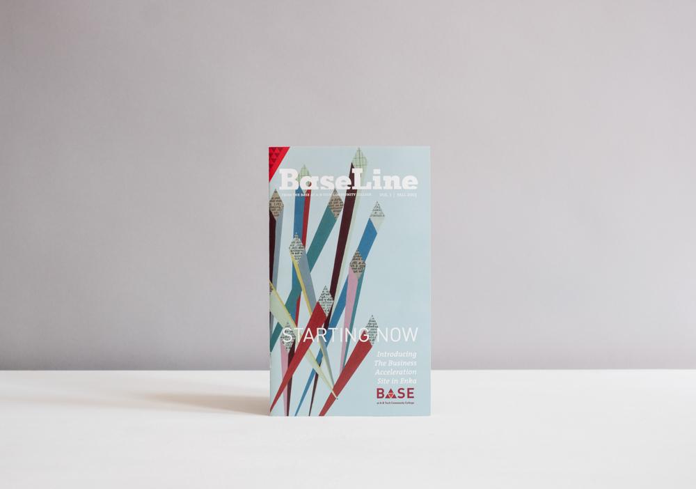 Cover illustration for BaseLine magazine by local Asheville artist Hannah Dansie.