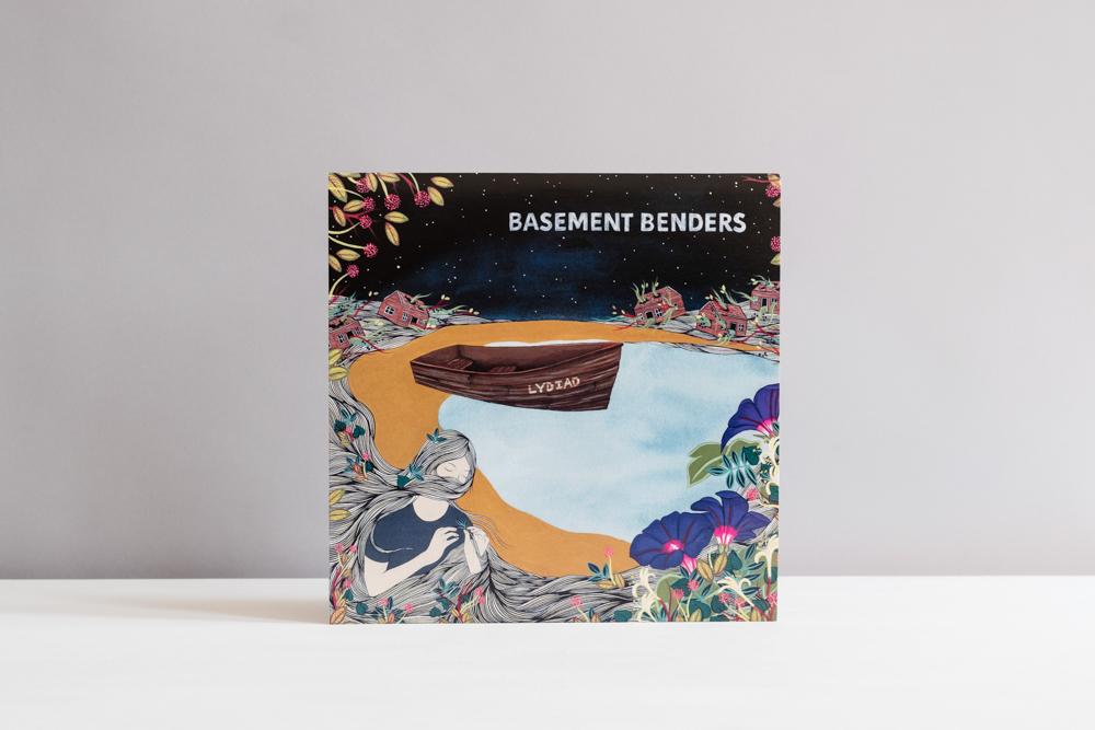 CD Cover illustration for Basement Benders depicting commissioned commercial artwork by artist Hannah Dansie.