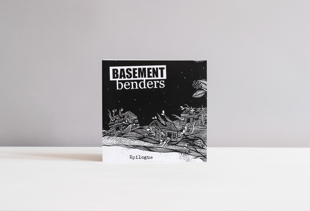 Album cover artwork by Hannah Dansie for Basement Benders. Hannah Dansie is available for commercial illustrations and commissioned publication design.