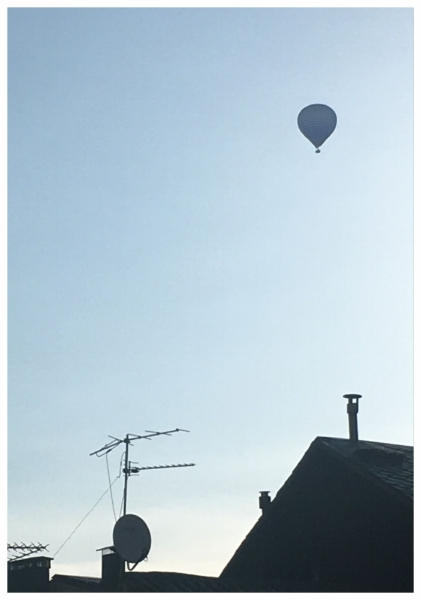 Hot air balloon in Puigcerda