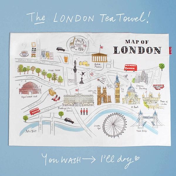 Alice Tait Map of London Tea Towel