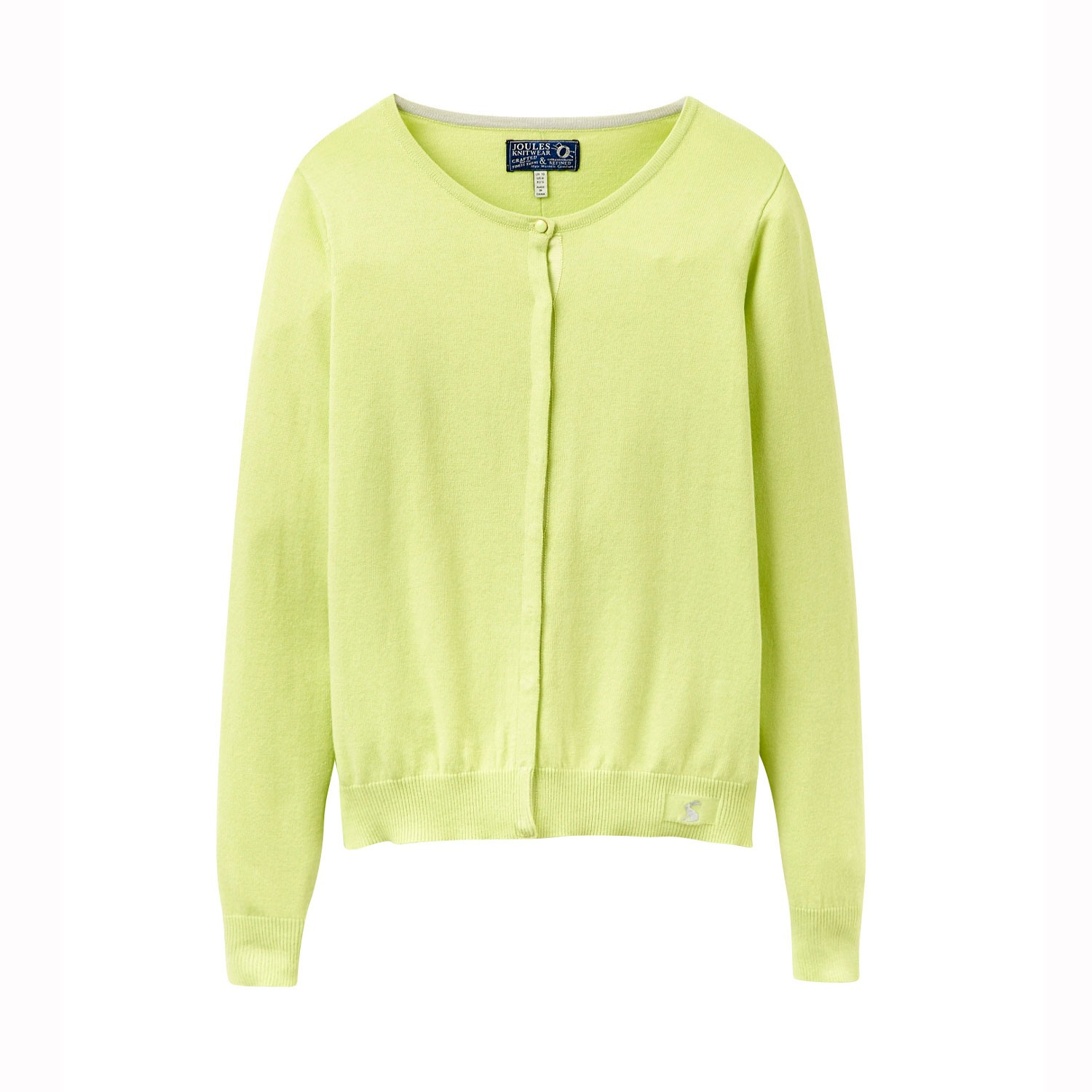 JOULES - FAITH BUTTON THROUGH CARDIGAN IN LIME - £39.95