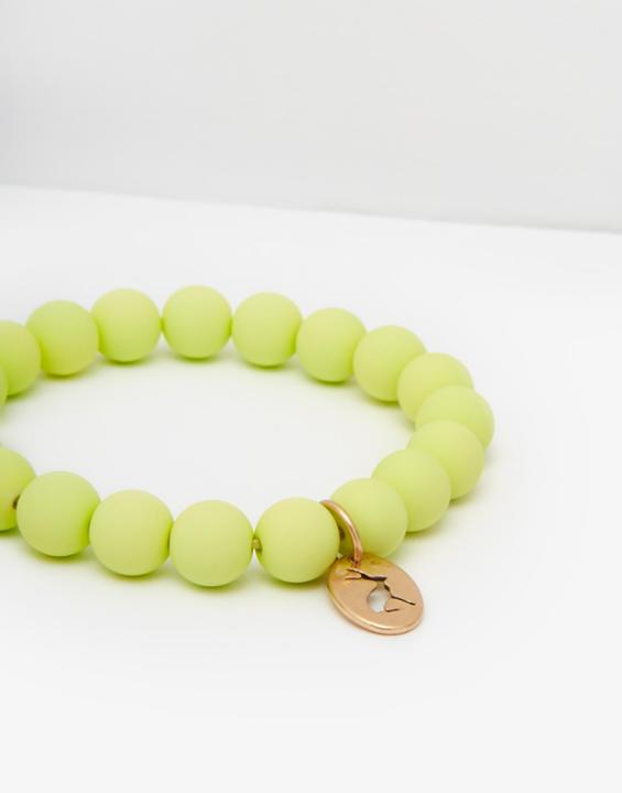 JOULES - MIKA BEAD BRACELET IN LIME - £12.95