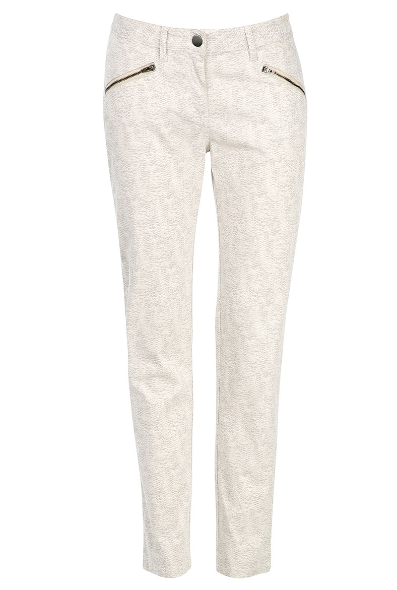 BRORA - SNAKE PRINT TROUSERS IN PLATINUM - £119