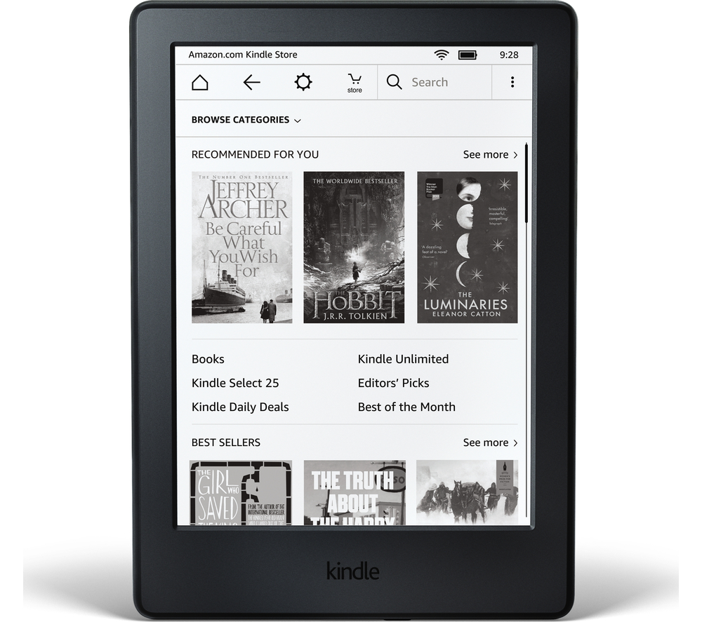 CURRYS AMAZON KINDLE TOUCH EREADER 2016 - BLACK £59.99