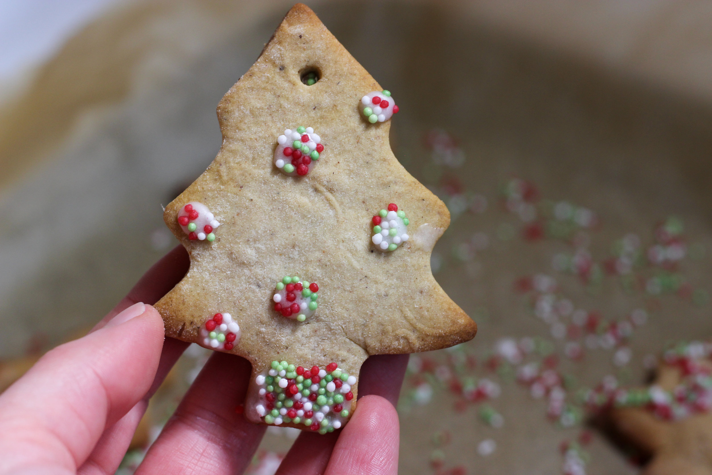 Homemade Recipe Christmas Tree Biscuits