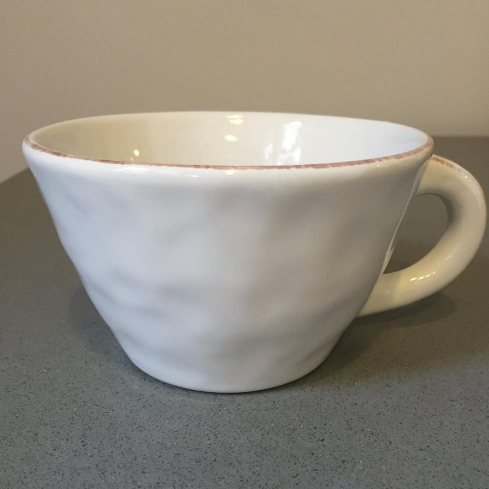 THE SALCOMBE TRADING COMPANY SWEDISH POTTERY COFFEE MUG, WHITE - £9.00
