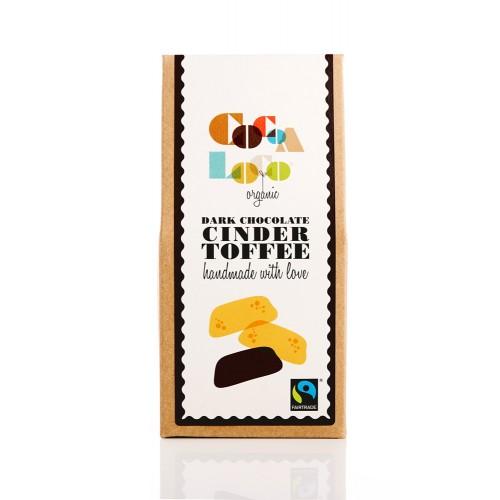 THE FOODIE BUGLE SHOP COCOA LOCO DARK CHOCOLATE CINDER TOFFEE - £4.00