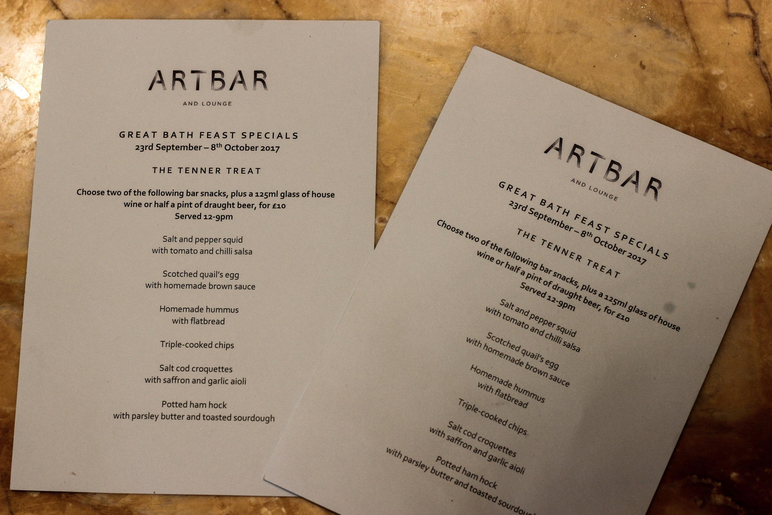 ArtBar The Abbey Hotel The Great Bath Feast Restaurant Review