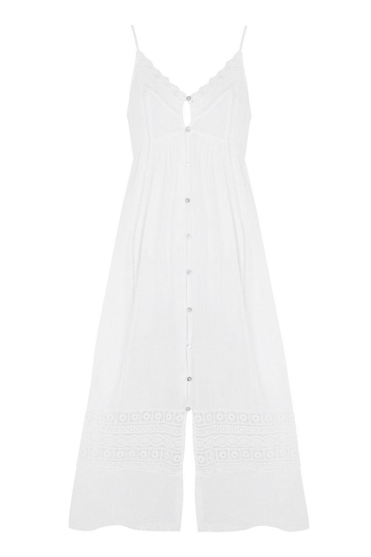 Topshop Lace Frill Midaxi Dress