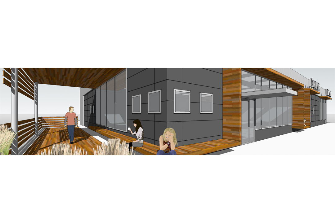 rendering of restaurant renovation design by vermont architects