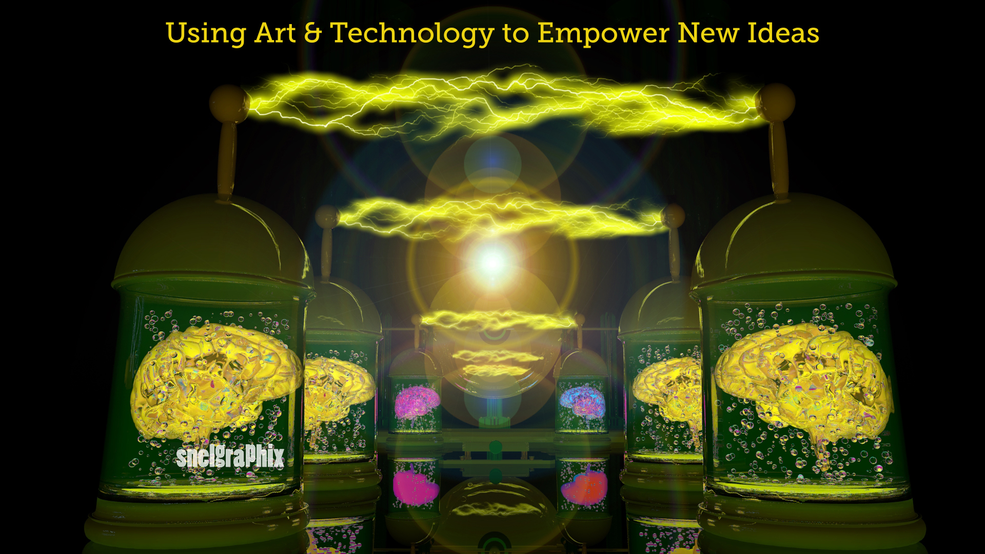 Snelgraphix using art and technology to empower new ideas.