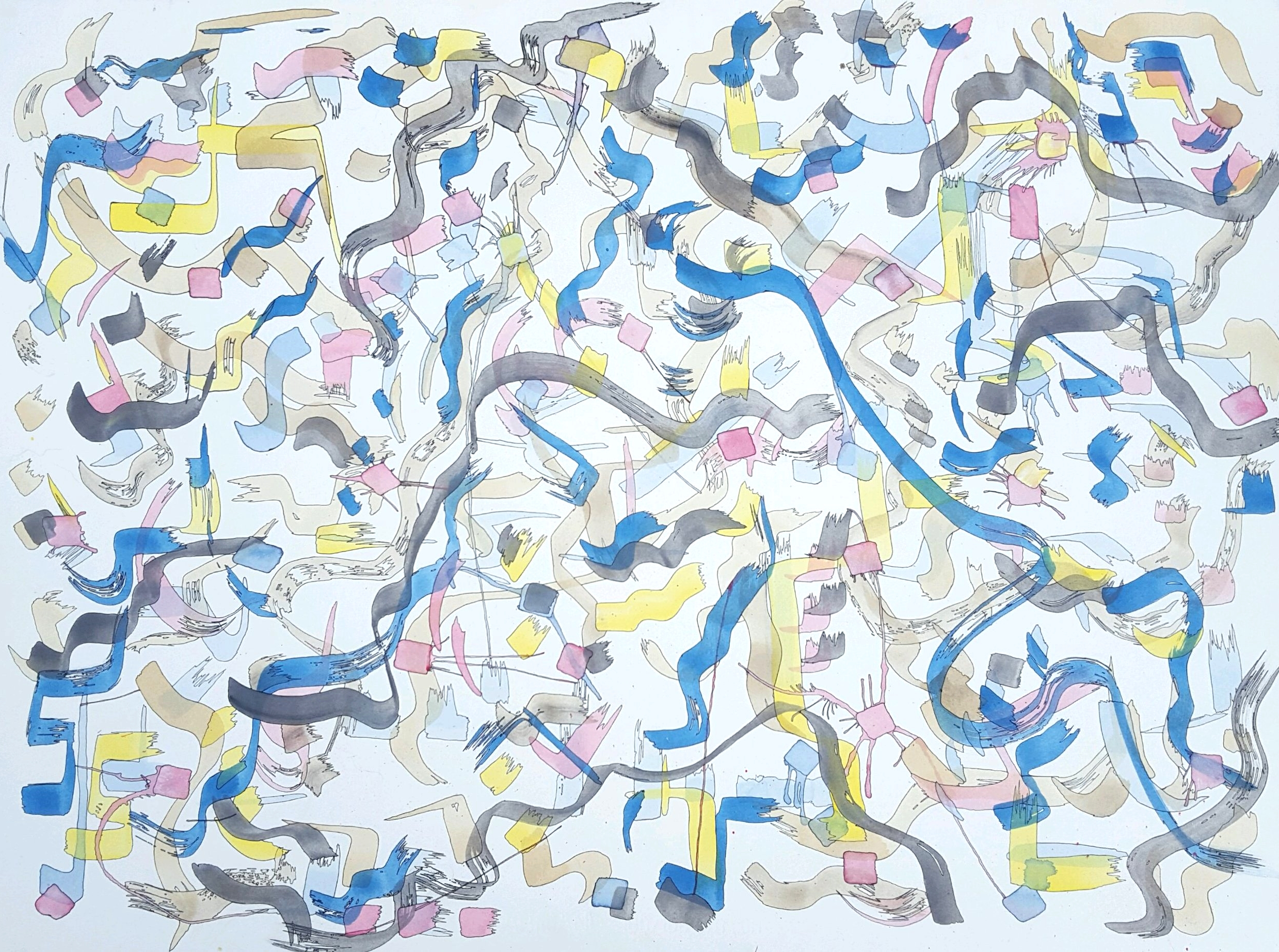 Happy Nothing or Ribbons Floating Freely, 2016