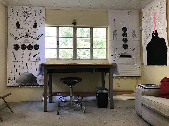 Studio day. 1st draft of some stuff. Long list of tweaks. #play . . . . . #digitalart #illustration #painting #orlandoartscene #ahmaitland #art #design