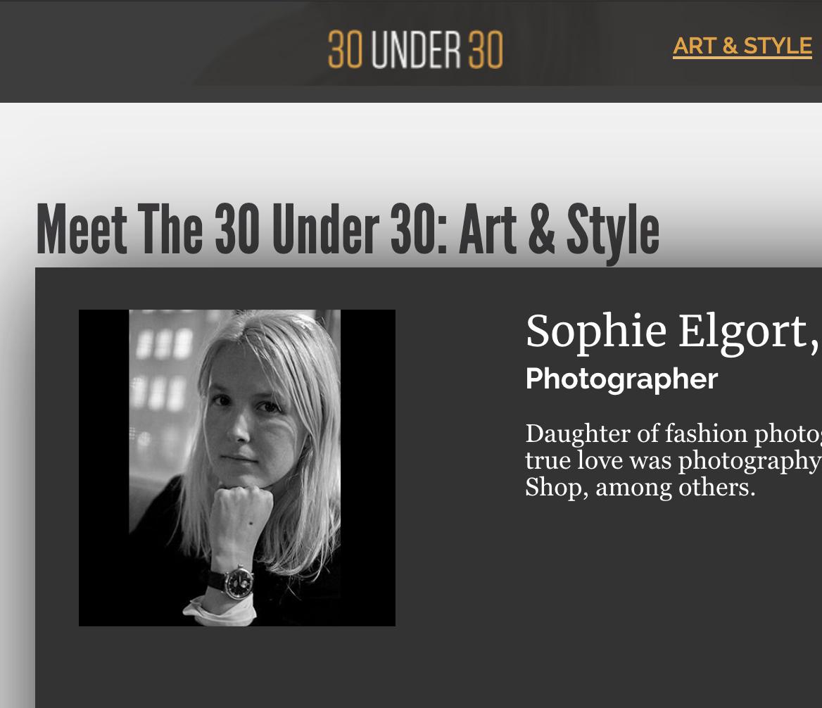 30 under 30 -  Art & Style