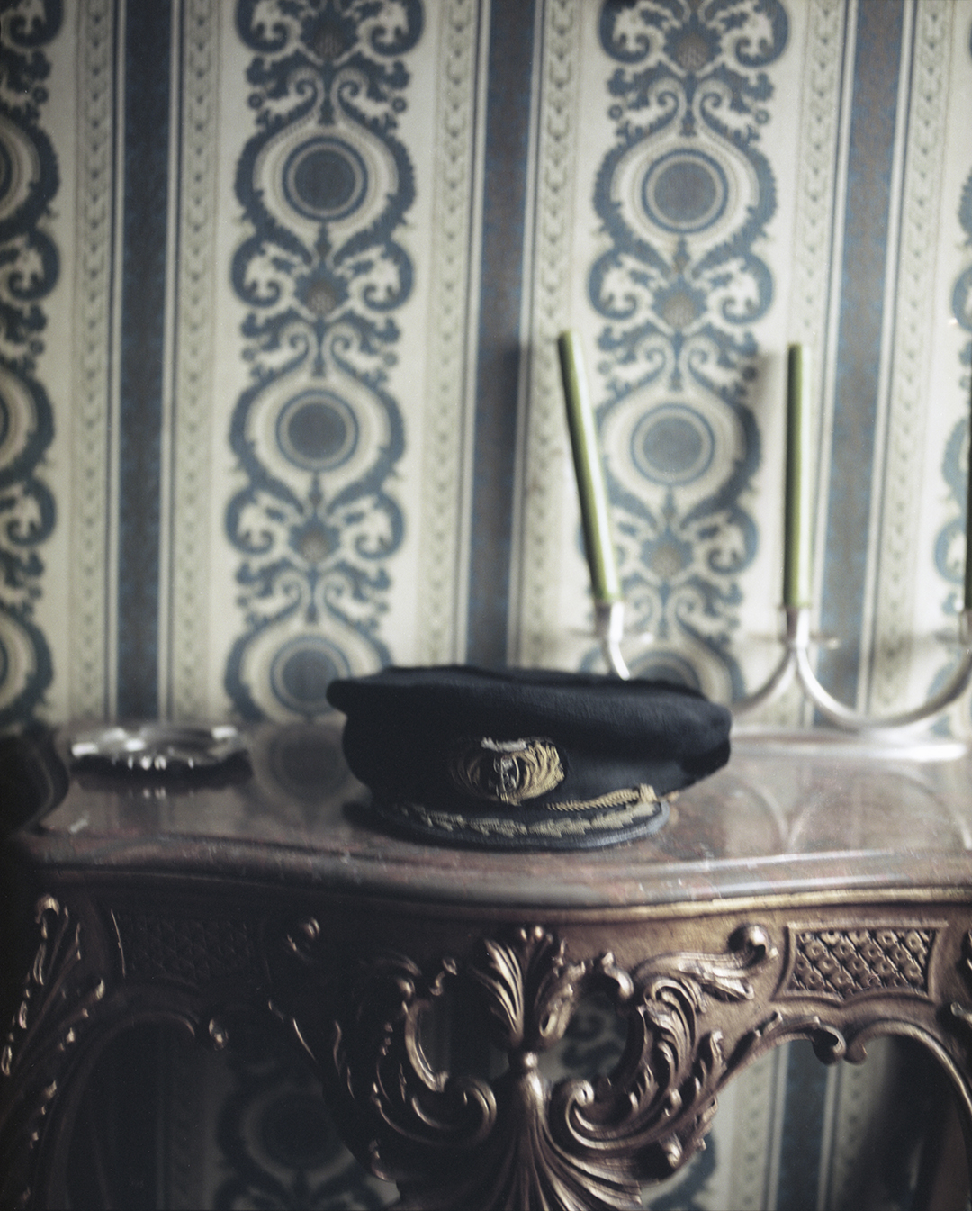 My grandfather's captain's hat at the entrance of my grandmother's house, Vila do Conde, September 2017