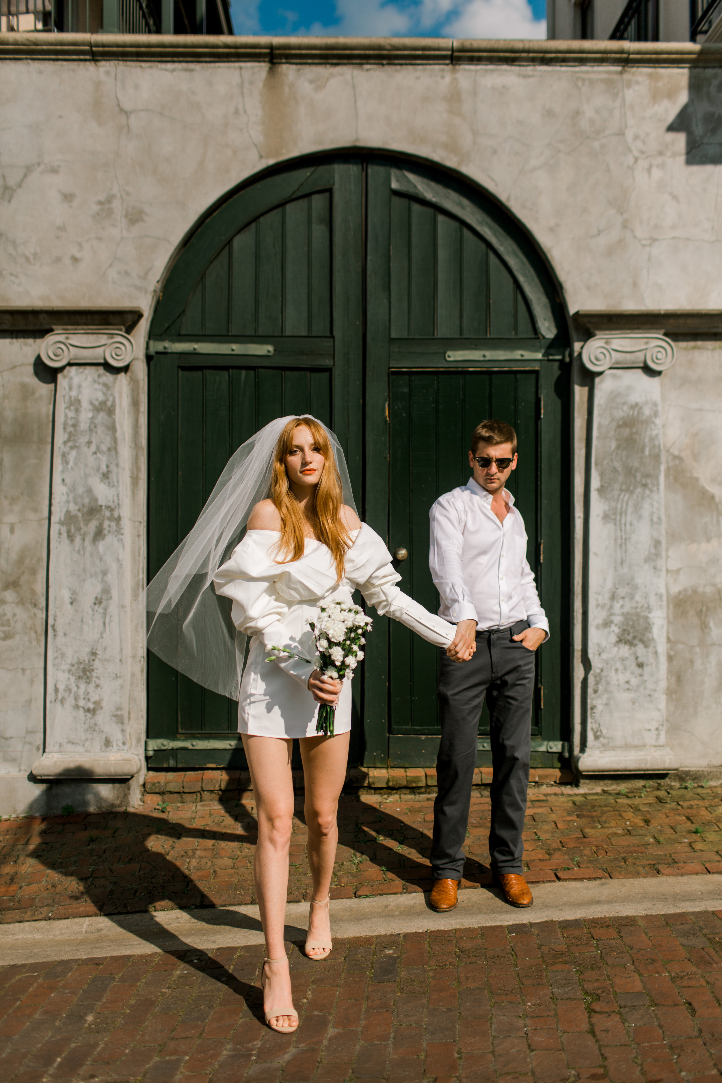 Gabriella Dress (GM) / Veil (It's a Date) / Shirt (Reed's) / Pants (Dakota Grizzly GM)