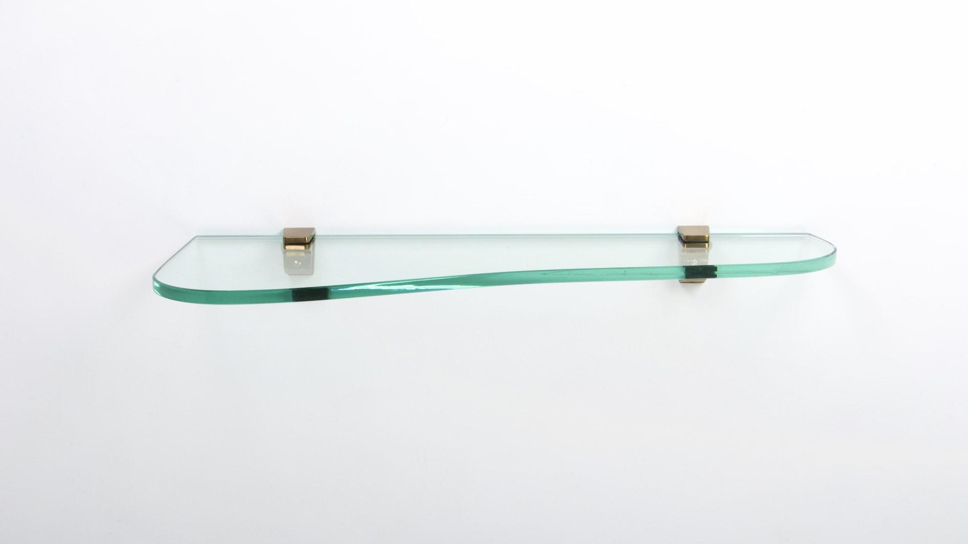 FONTANA ARTE ASYMETRIC GLASS WALL CONSOLE 2