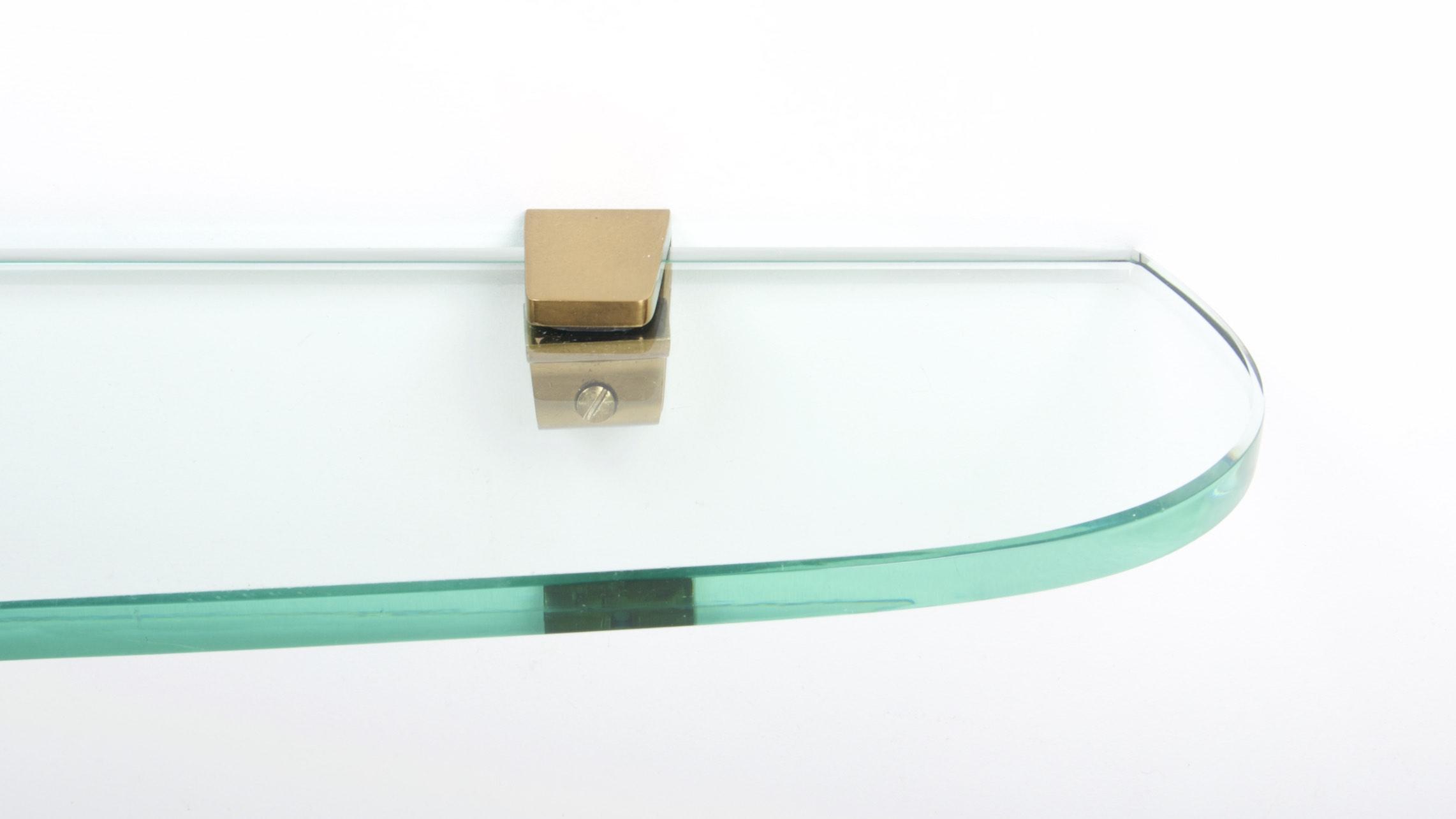 FONTANA ARTE ASYMETRIC GLASS WALL CONSOLE 4