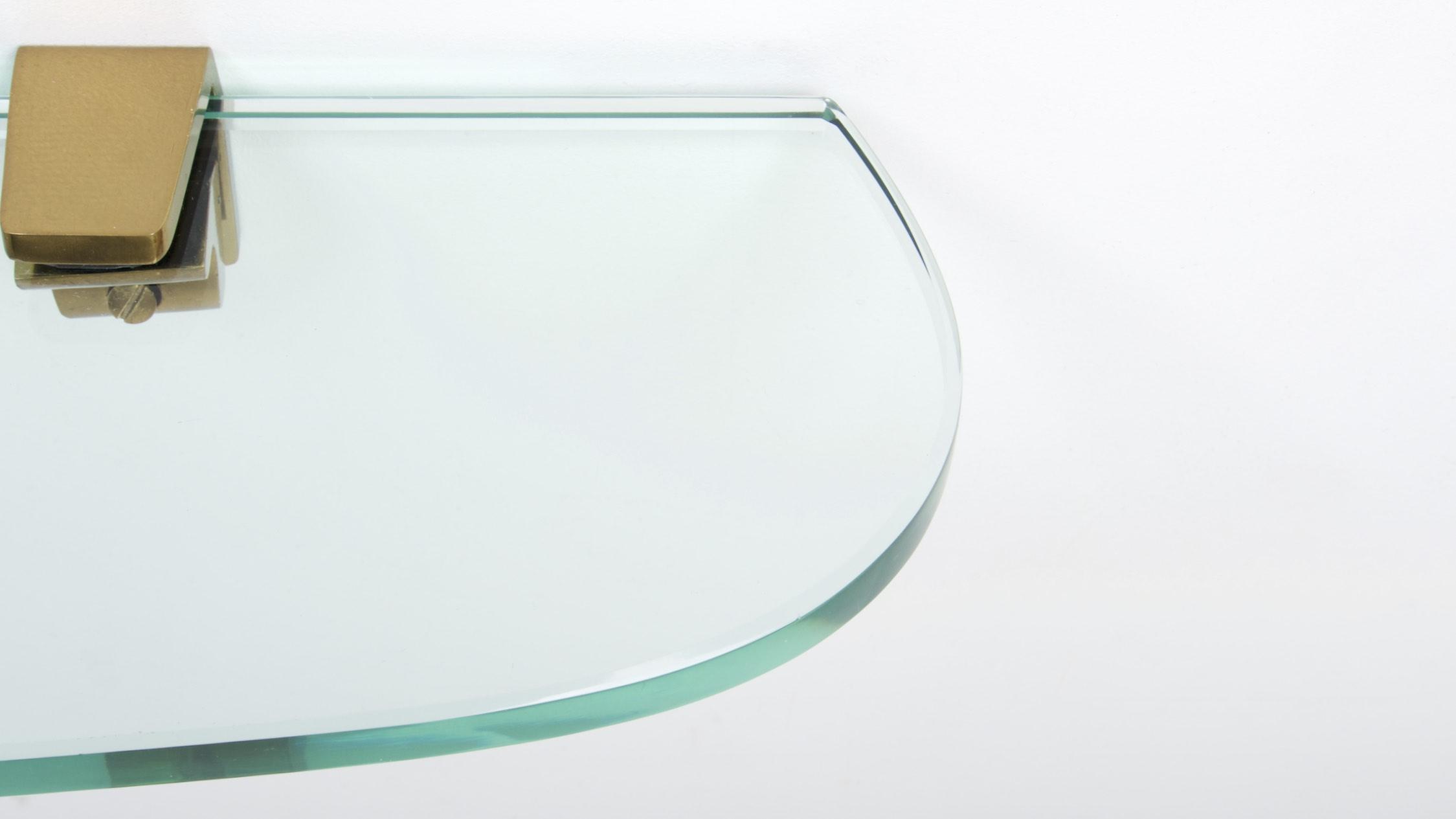 FONTANA ARTE ASYMETRIC GLASS WALL CONSOLE 5