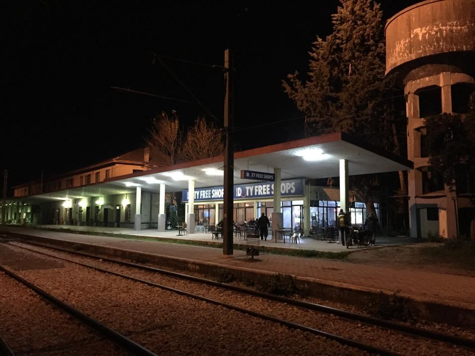 The train station where Karen, Kari and Lindsey ate dinner