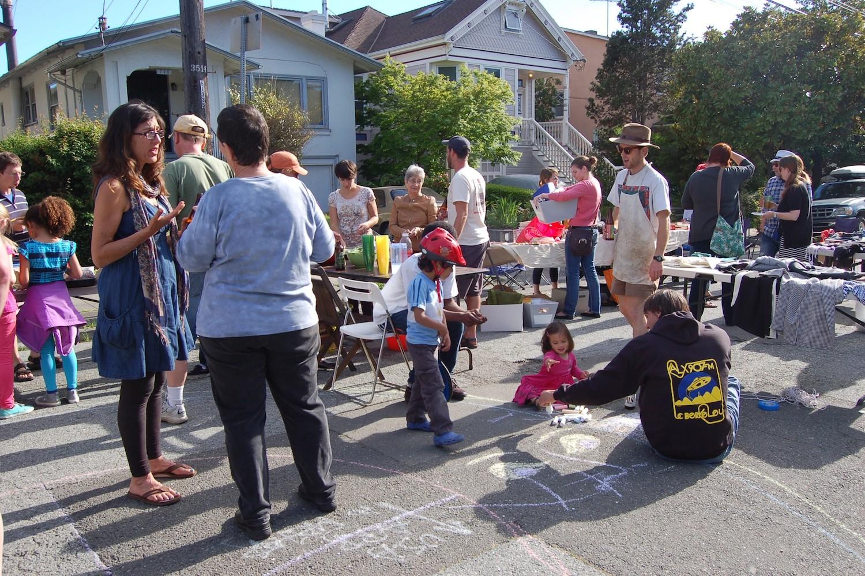 Block party on my street in Oakland, CA in 2013.