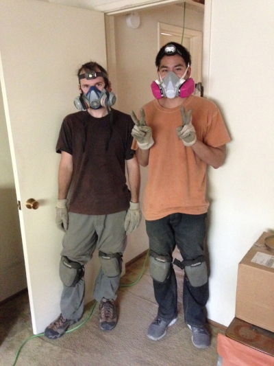 Our friend Danny was a huge help in getting the insulation out.