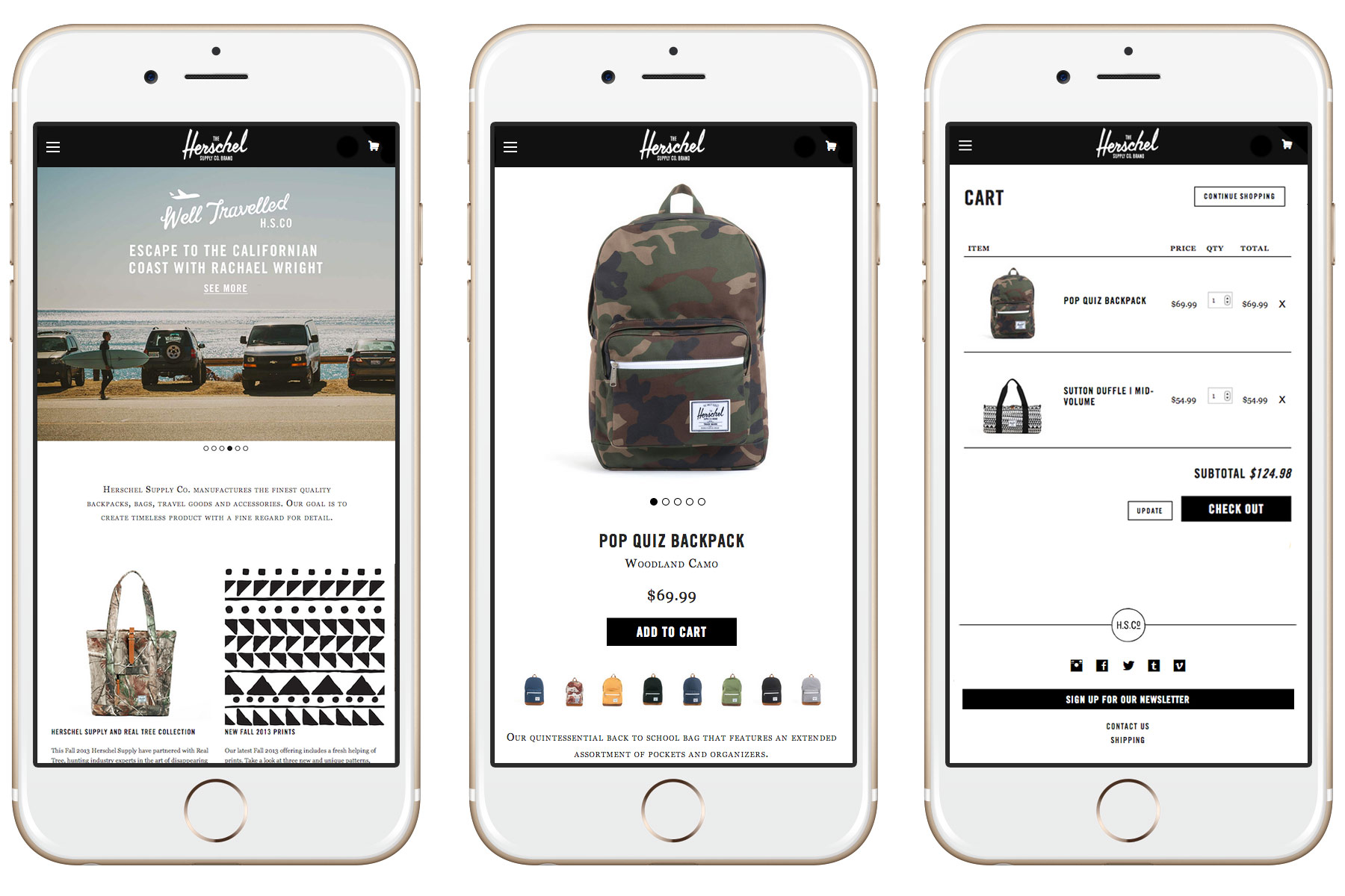 Problem:  On the previous site it was almost impossible to checkout on a mobile device but over half of the users were shopping from their phone.      Solution:  By taking a mobile first approach, we addressed the needs of our customers and how they use the site..
