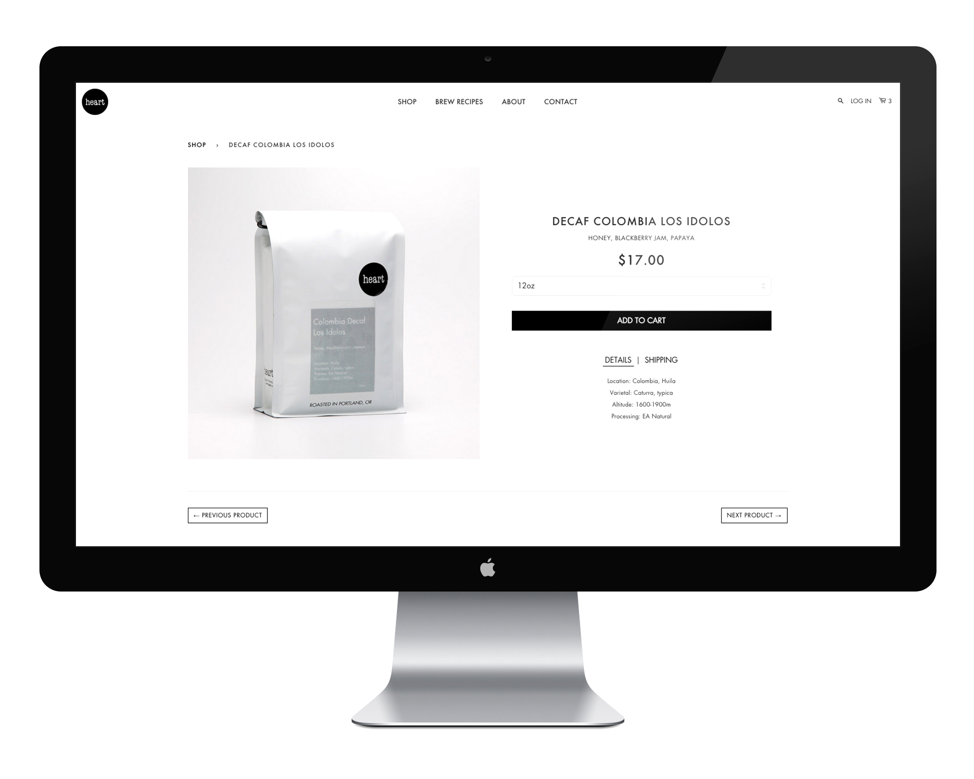 The Product Page : Keeping it simple byputting the most important information near the top.